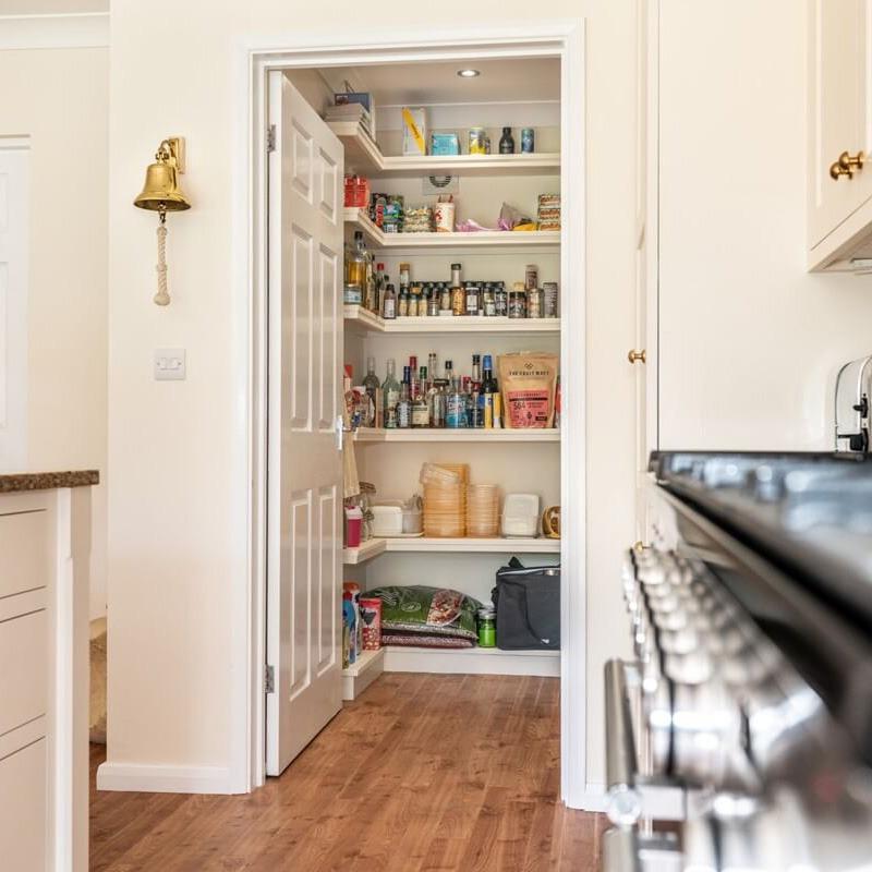 Additional Storage Walk In Pantry Handmade Kitchen Company By Nicholas Bridger